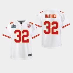 Jeunes Kansas City Chiefs 32 Tyrann Mathieu Super Bowl LIV jeu Jersey - Blanc