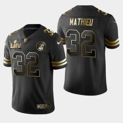Kansas City Chiefs Hommes 32 Tyrann Mathieu Super Bowl LIV Golden Edition Jersey - Noir