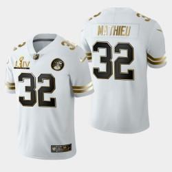 Kansas City Chiefs Hommes 32 Tyrann Mathieu Super Bowl LIV Golden Edition Jersey - Blanc