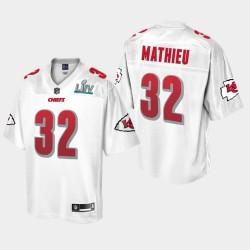 Kansas City Chiefs Hommes 32 Tyrann Mathieu Super Bowl LIV Jersey Champions - Blanc