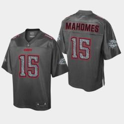 Ville Hommes Kansas Chiefs 15 Patrick Mahomes Jersey Mode statique - Heather Charcoal