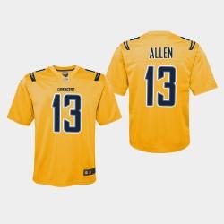 Los Angeles jeunes Chargers 13 Keenan Allen Inversé Jeu Jersey - Or