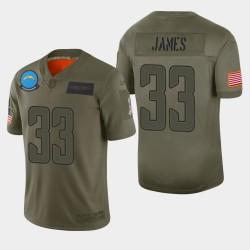 Los Angeles Chargers 33 hommes Derwin James 2019 Salut au service Camo Jersey limitée