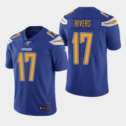 Chargeurs hommes Los Angeles 17 Philip Rivers 100ème saison couleur Rush Jersey - Royale