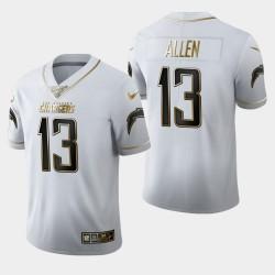 100 hommes Los Angeles Chargers 13 Keenan Allen Saison Golden Edition Jersey - Blanc