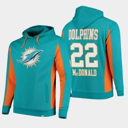 Fanatics Branded Hommes Miami Dolphins 22 T.J. Équipe McDonald Iconic Sweat à capuche - Aqua