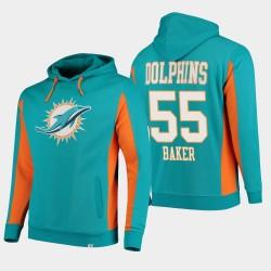 Fanatics Branded Hommes Miami Dolphins 55 équipe Jerome Baker Iconic Sweat à capuche - Aqua
