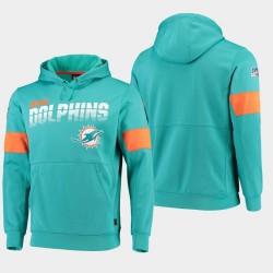Équipe masculine Miami Dolphins 100e saison Sideline Logo Sweat à capuche - Aqua