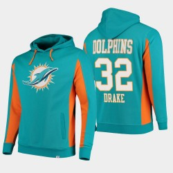 Fanatics Branded Hommes Miami Dolphins 32 équipe Drake Kenya Iconic Sweat à capuche - Aqua