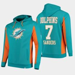 Fanatics Branded Hommes Miami Dolphins 7 équipe Sanders Jason Iconic Sweat à capuche - Aqua