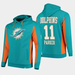 Fanatics Branded Hommes Miami Dolphins 11 Devante Parker équipe Iconic Sweat à capuche - Aqua