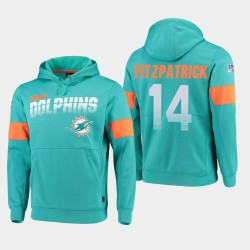 Dauphins 100ème Saison Ryan Fitzpatrick Sideline équipe Logo Sweat à capuche - Aqua