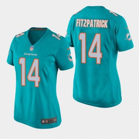 Miami Dolphins 14 femmes Ryan Fitzpatrick jeu Jersey - Aqua