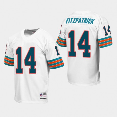 Miami Dolphins 14 hommes Ryan Fitzpatrick Throwback Jersey - WHite