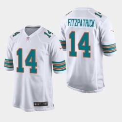 Miami Dolphins 14 hommes Ryan Fitzpatrick Throwback jeu Maillot - Blanc