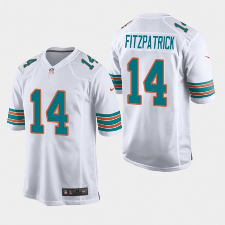 Miami Dolphins 14 hommes Ryan Fitzpatrick Throwback jeu Jersey - Blanc