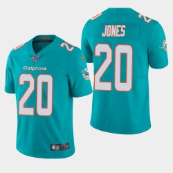 Miami Dolphins 20 hommes Reshad Jones 100ème saison de vapeur Limited Jersey - Aqua