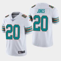 Miami Dolphins 20 hommes Reshad Jones 100ème saison de vapeur Limited Jersey - Blanc