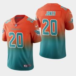 Miami Dolphins 20 hommes Reshad Jones couleur crash gradient Aqua Jersey