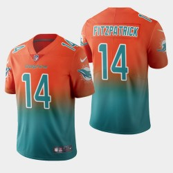 Miami Dolphins 14 hommes Ryan Fitzpatrick couleur crash gradient Aqua Jersey