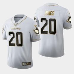 Miami Dolphins 20 hommes Reshad Jones Saison 100 Golden Edition Jersey - Blanc