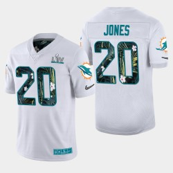 Miami Dolphins 20 hommes Reshad Jones Super Bowl LIV Host Jersey City - Blanc