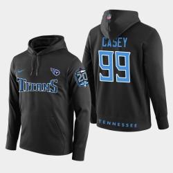 Titans hommes Tennessee 99 Jurrell Casey 20ème anniversaire Patch Sweat à capuche - Noir