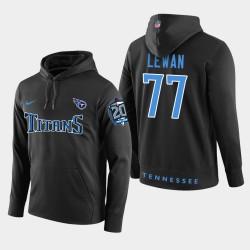 Titans hommes Tennessee 77 Taylor Lewan 20ème anniversaire Patch Sweat à capuche - Noir