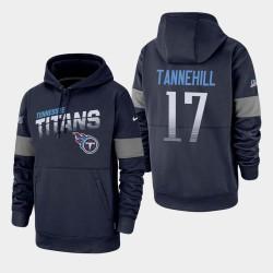 Titans 100ème Saison Ryan Tannehill Sideline équipe Logo Sweat à capuche - Marine