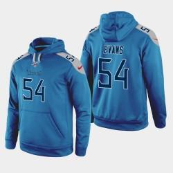 Titans hommes Tennessee 54 Rashaan Evans 100ème saison Jeu Hoodie - Bleu clair