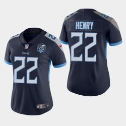 Titans Derrick Henry féminin 20e anniversaire Jersey vapeur Intouchable limitée - Blanc