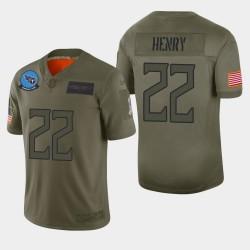 Tennessee Titans hommes 22 Derrick Henry 2019 Salut au service Camo Jersey limitée
