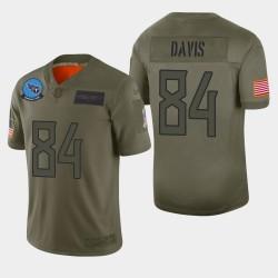 Tennessee Titans hommes 84 Corey Davis 2019 Salut au service Camo Jersey limitée