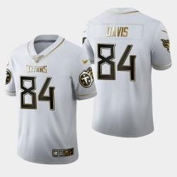 Titans hommes Tennessee 84 Corey Davis 100ème saison Golden Edition Jersey - Blanc