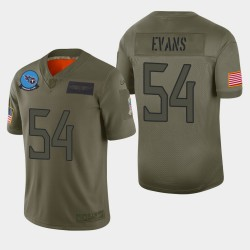 Tennessee Titans hommes 54 Rashaan Evans 2019 Salut au service Camo Jersey limitée