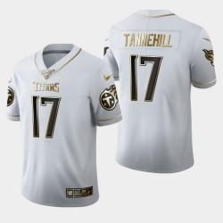 Titans hommes Tennessee 17 Ryan Tannehill 100ème saison Golden Edition Jersey - Blanc