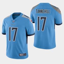 Titans hommes Tennessee 17 Ryan Tannehill 100ème saison de vapeur Limited Jersey - Bleu clair