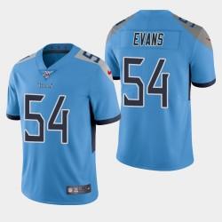 Titans hommes Tennessee 54 Rashaan Evans 100ème saison de vapeur Limited Jersey - Bleu clair