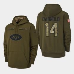 Jets Sam Darnold 2018 Salut à Service Sweat à capuche - Olive