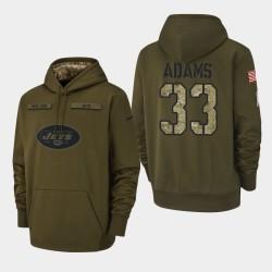 Jets Jamal Adams 2018 Salut à Service Sweat à capuche - Olive
