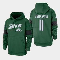 New York Jets 11 hommes Robby Anderson 100e saison Sideline équipe Logo Sweat à capuche - vert