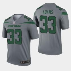 New York Jets 33 hommes Jamal Adams Inverted Legend Maillot - Gris