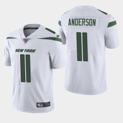 New York Jets 11 hommes Robby Anderson 100e saison de vapeur Limited Jersey - Blanc