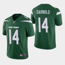 Jets de New York 14 hommes Sam Darnold 100ème saison de vapeur Limited Jersey - Vert