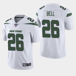 New York Jets 26 hommes Le'Veon Bell 100ème saison de vapeur Limited Jersey - Blanc