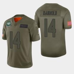 New York Jets 14 hommes Sam Darnold 2019 Salut au service Camo Jersey limitée