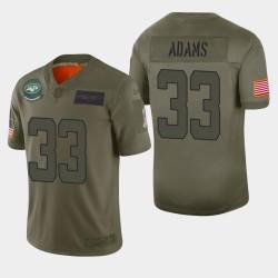 Jets de New York 33 hommes Jamal Adams 2019 Salut au service Camo Maillot limitée