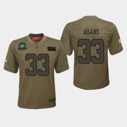 Jets jeunes Jamal Adams 2019 Salut au service du jeu Maillot - Camo