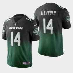 New York Jets 14 hommes Sam Darnold couleur crash dégradé maillot vert
