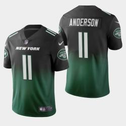 New York Jets 11 Robby Anderson couleur crash dégradé maillot vert hommes